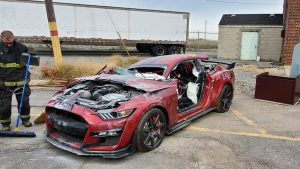 Ford Mustang Shelby GT500 dissected by the Dearborn Fire Department
