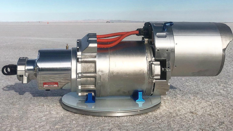 EV West develops Tesla crate motor that fits LS, small-block mounts