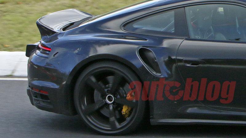 Porsche 911 Turbo ducktail prototype caught in yet more spy photos