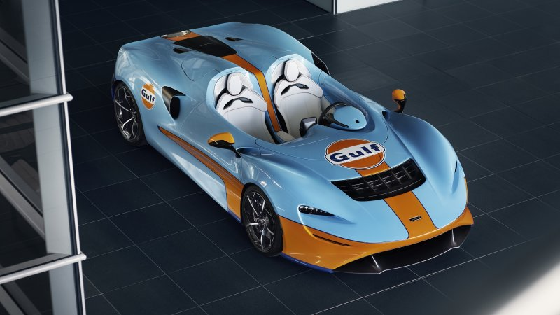McLaren Elva Gulf Theme introduced at 2020 Goodwood SpeedWeek