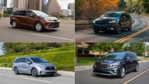 2021 Toyota Sienna vs Honda Odyssey vs Chrysler Pacifica vs Kia Sedona | Spec, pricing and interior comparison