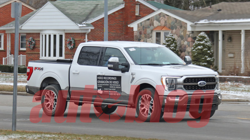 Spy Photos: Ford F-150 with magnetic signs on doors and tailgate