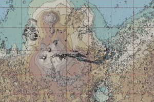Wanna Follow Along With Percy? Here's Your Mars Topo Map