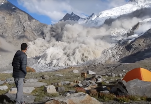 Ice and Rock Shake Loose in Dramatic, Basecamp-Adjacent Himalayan Avalanche