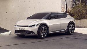 Kia EV6 electric car revealed with curvy sheetmetal