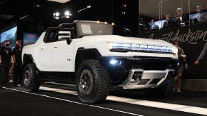 2022 GMC Hummer EV No. 001 at Barrett-Jackson brings $2.5 million