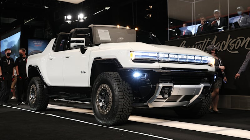 2022 GMC Hummer EV No. 001 at Barrett-Jackson brings $2.5 million